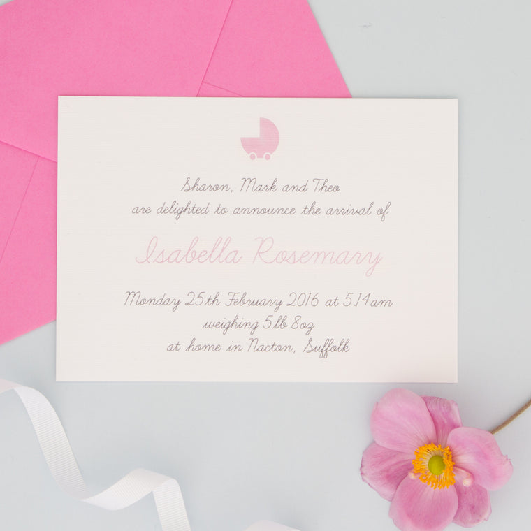 Personalised Birth Announcements - The Two Wagtails