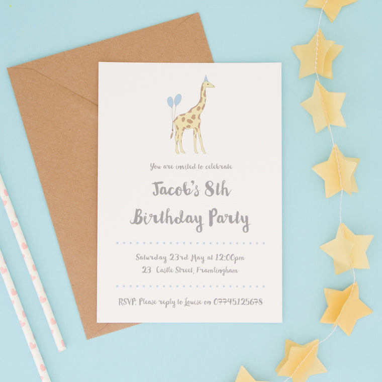 Children's Animal Party Invitations - The Two Wagtails