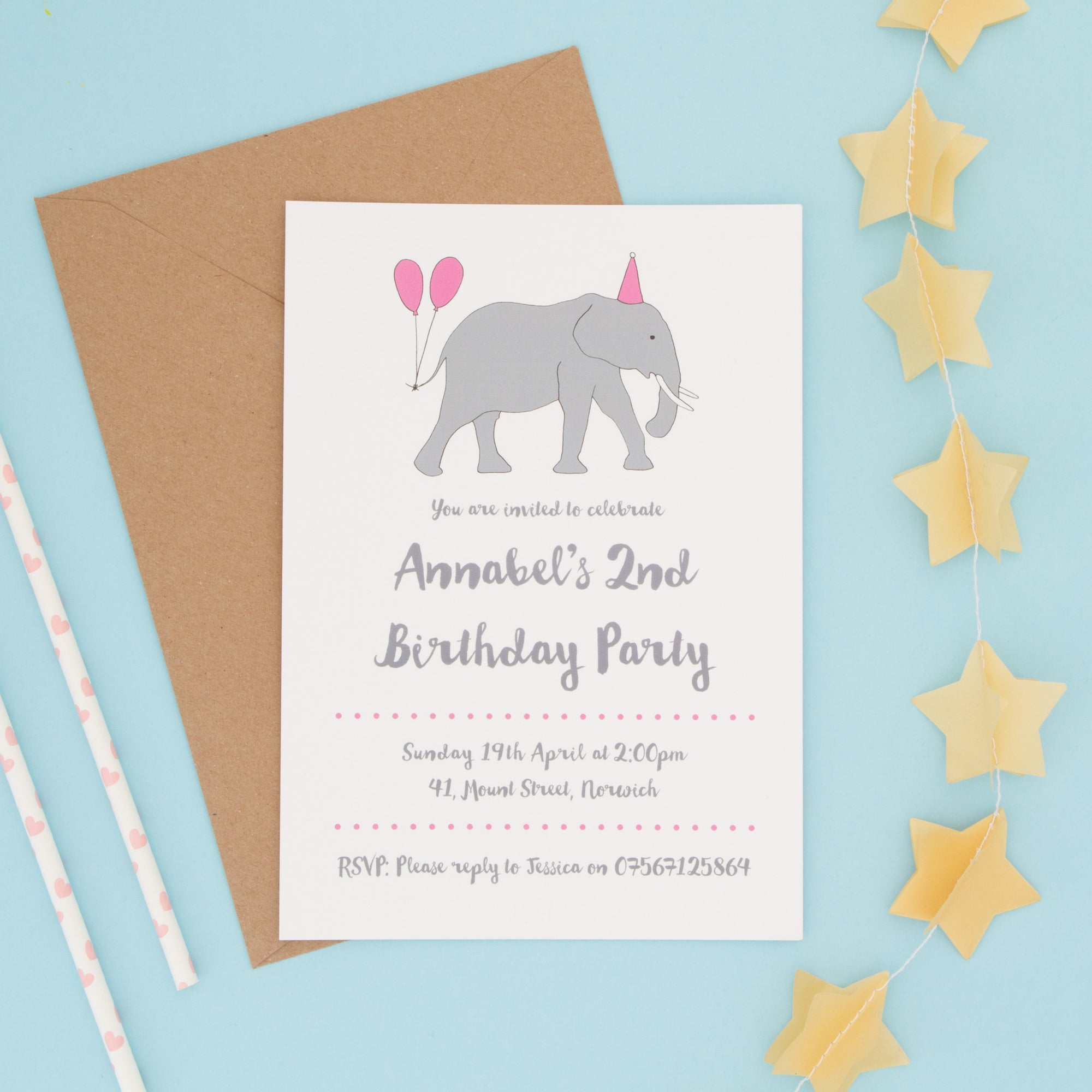 Children's Animal Party Invitations Invitations - The Two Wagtails