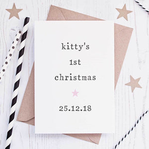 Personalised 'Baby's 1st Christmas' Card