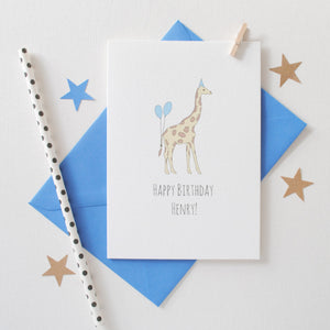 Personalised Animal Birthday Card Card - The Two Wagtails