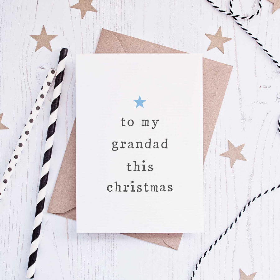 'To My' Grandparents Christmas Card Card - The Two Wagtails