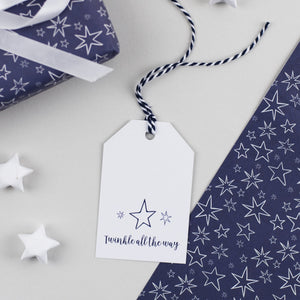 Christmas Star Gift Tags Twinkle