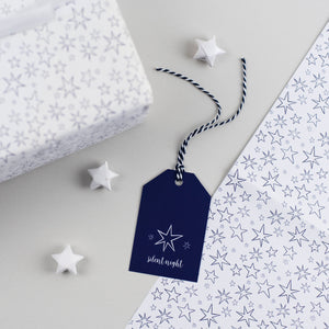 Christmas Star Gift Tags Silent Night