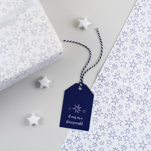 Christmas Star Gift Tags Starry Night
