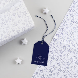Christmas Star Gift Tags Merry and Bright