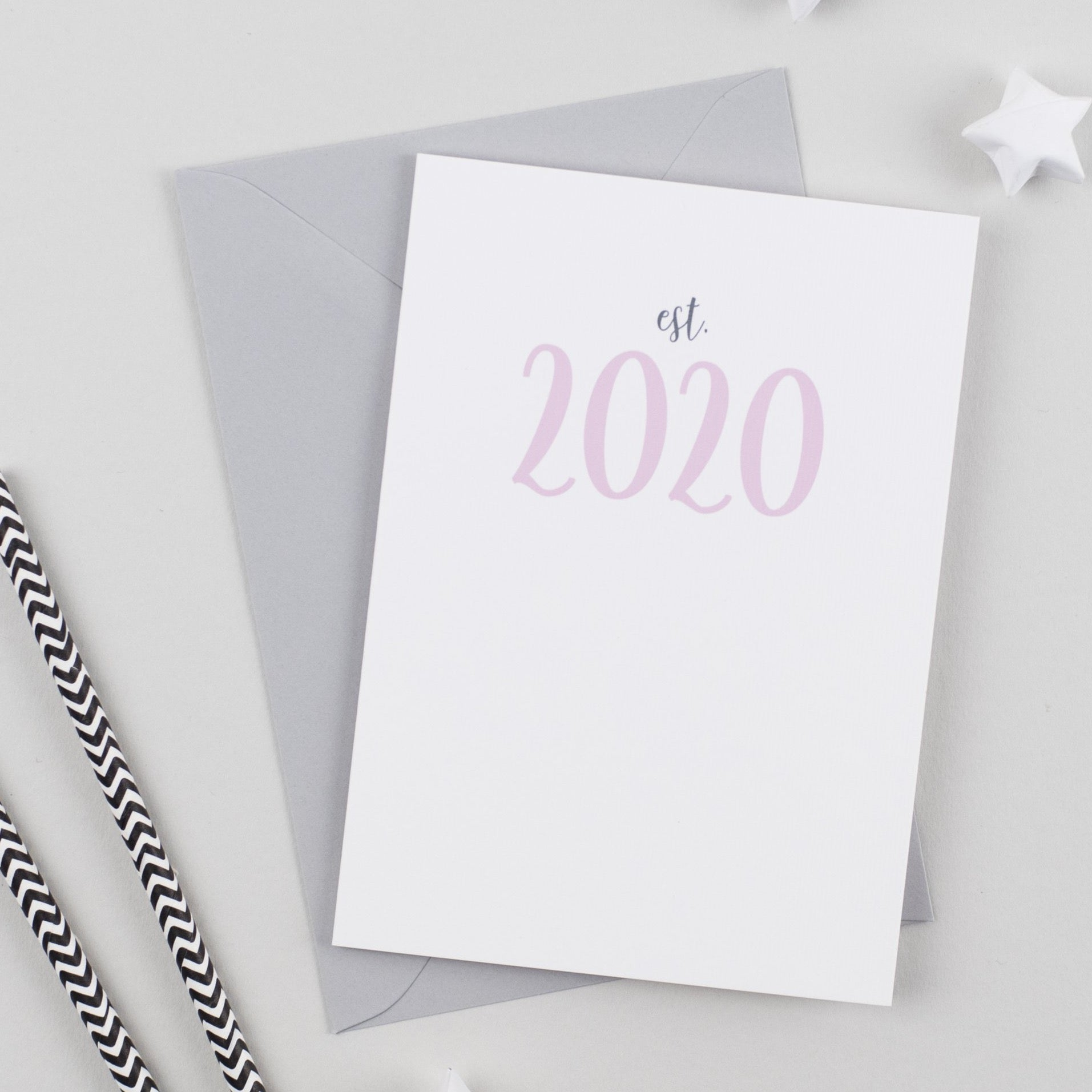 Established Date New Baby Card
