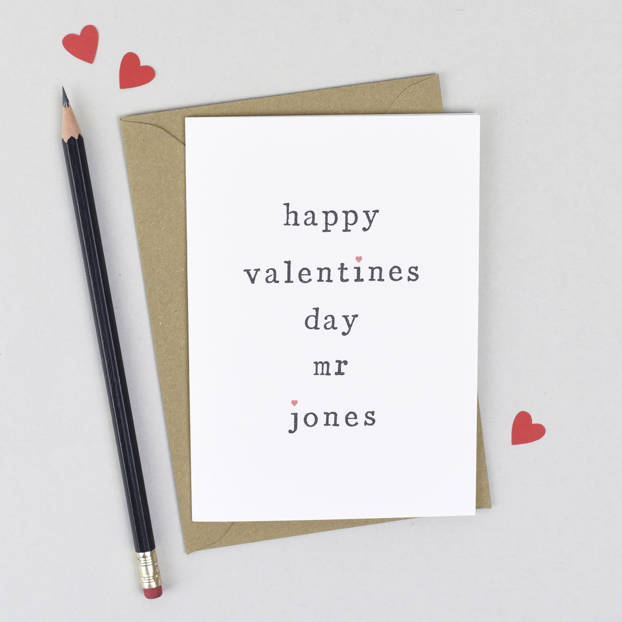 Mr or Mrs Valentines Card Greeting Cards – Personalised Valentines Cards