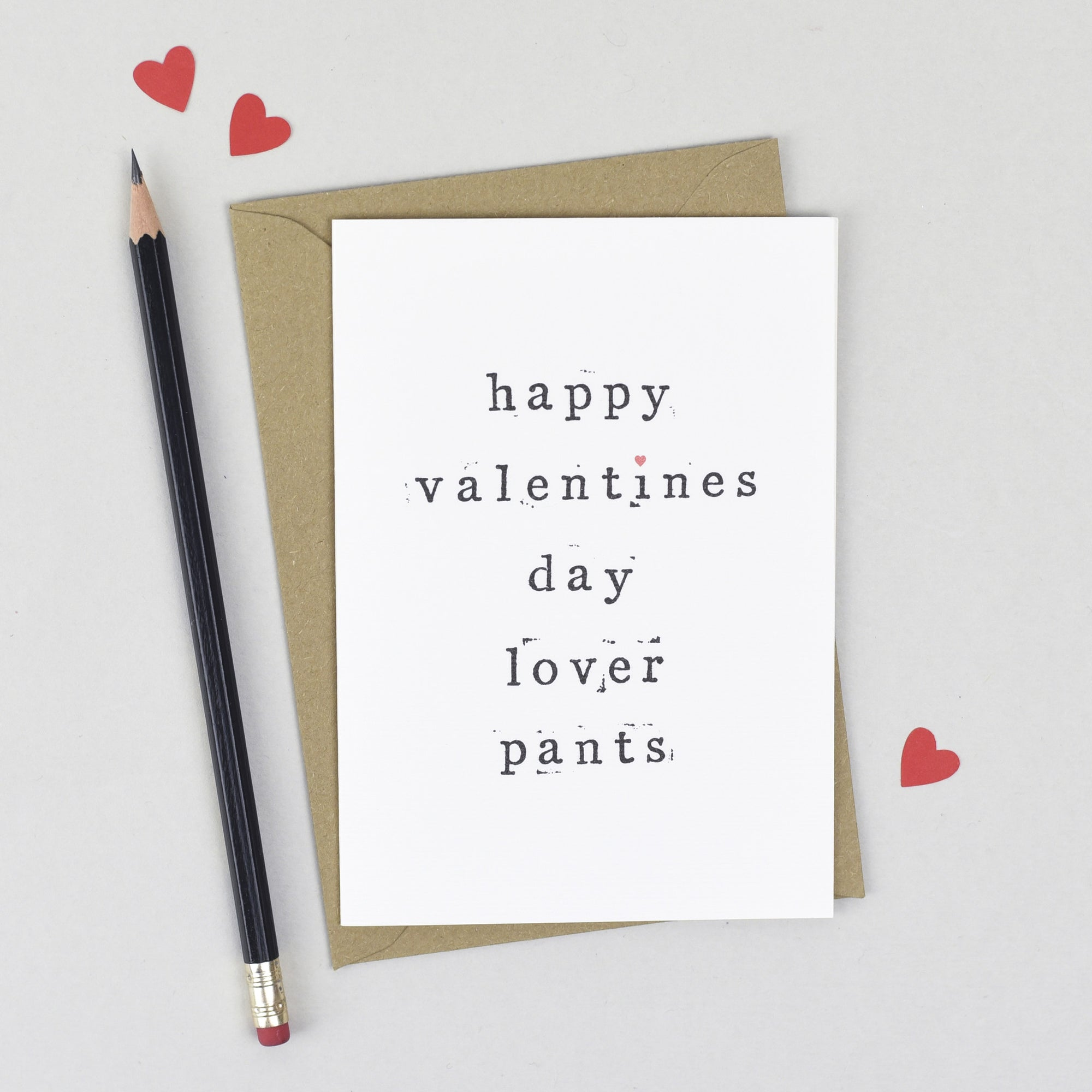 Happy Valentine's Day Lover Pants Card Card - The Two Wagtails