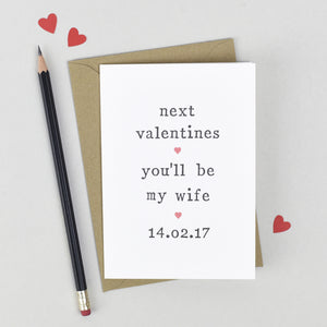 Valentines card for future wife