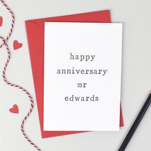 Happy Anniversary Mr or Mrs Card Card - The Two Wagtails