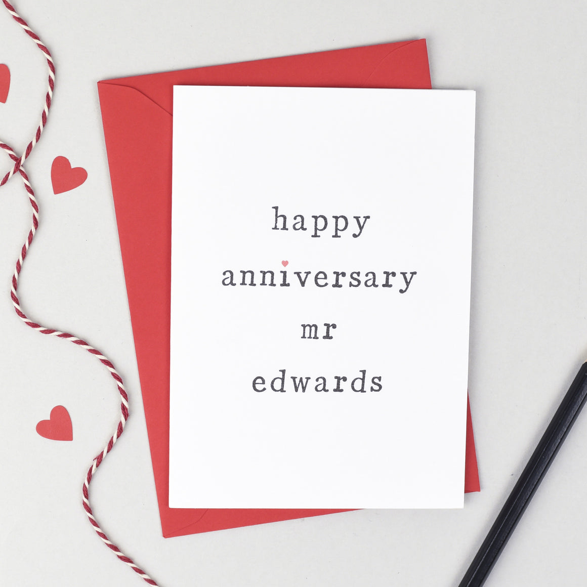 Happy Anniversary Mr or Mrs Card - The Two Wagtails