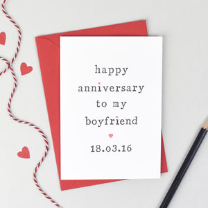 Personalised 'Happy Anniversary To My' Card Card - The Two Wagtails