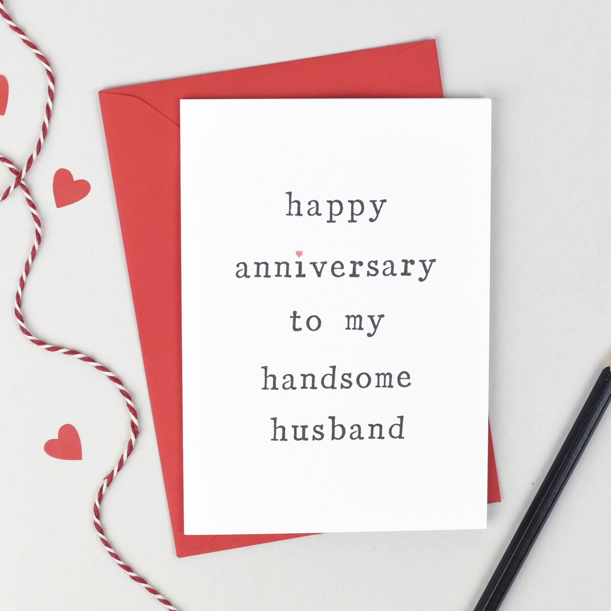 Husband Or Wife Anniversary Card Greeting Cards The Two Wagtails