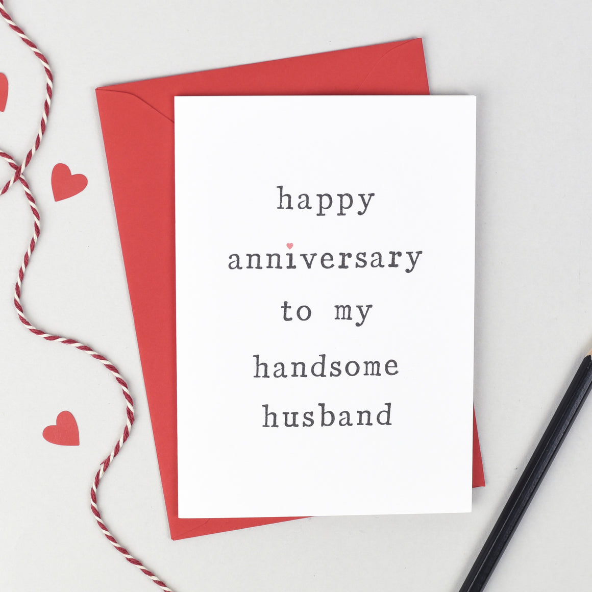 Husband or Wife Anniversary Card Card - The Two Wagtails