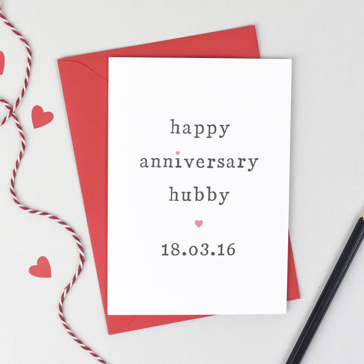 Personalised Happy Anniversary Hubby Or Wifey Card Card - The Two Wagtails