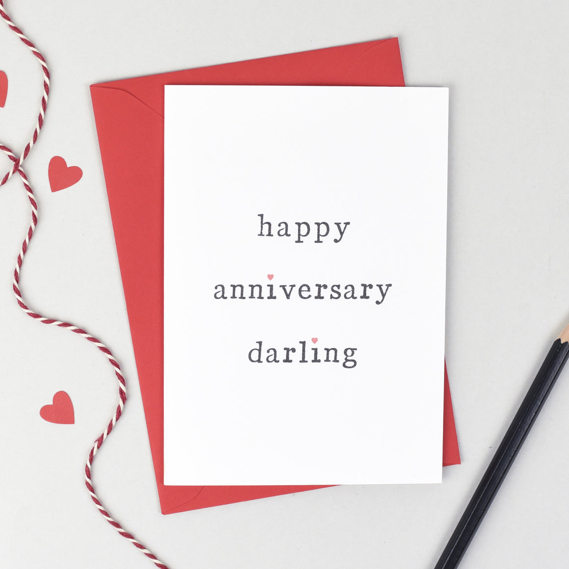 Happy Anniversary Card - The Two Wagtails