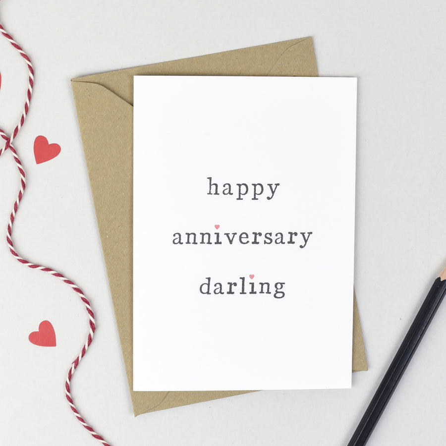 Happy Anniversary Card Card - The Two Wagtails