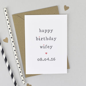 Personalised Happy Birthday Hubby Or Wifey Card Card - The Two Wagtails