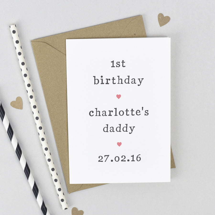Personalised '1st Birthday As' Card Card - The Two Wagtails