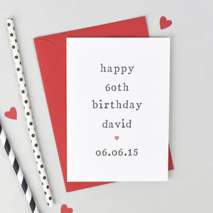 Personalised Milestone Birthday Card Card - The Two Wagtails
