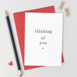 'Thinking Of You' Sympathy Card Card - The Two Wagtails