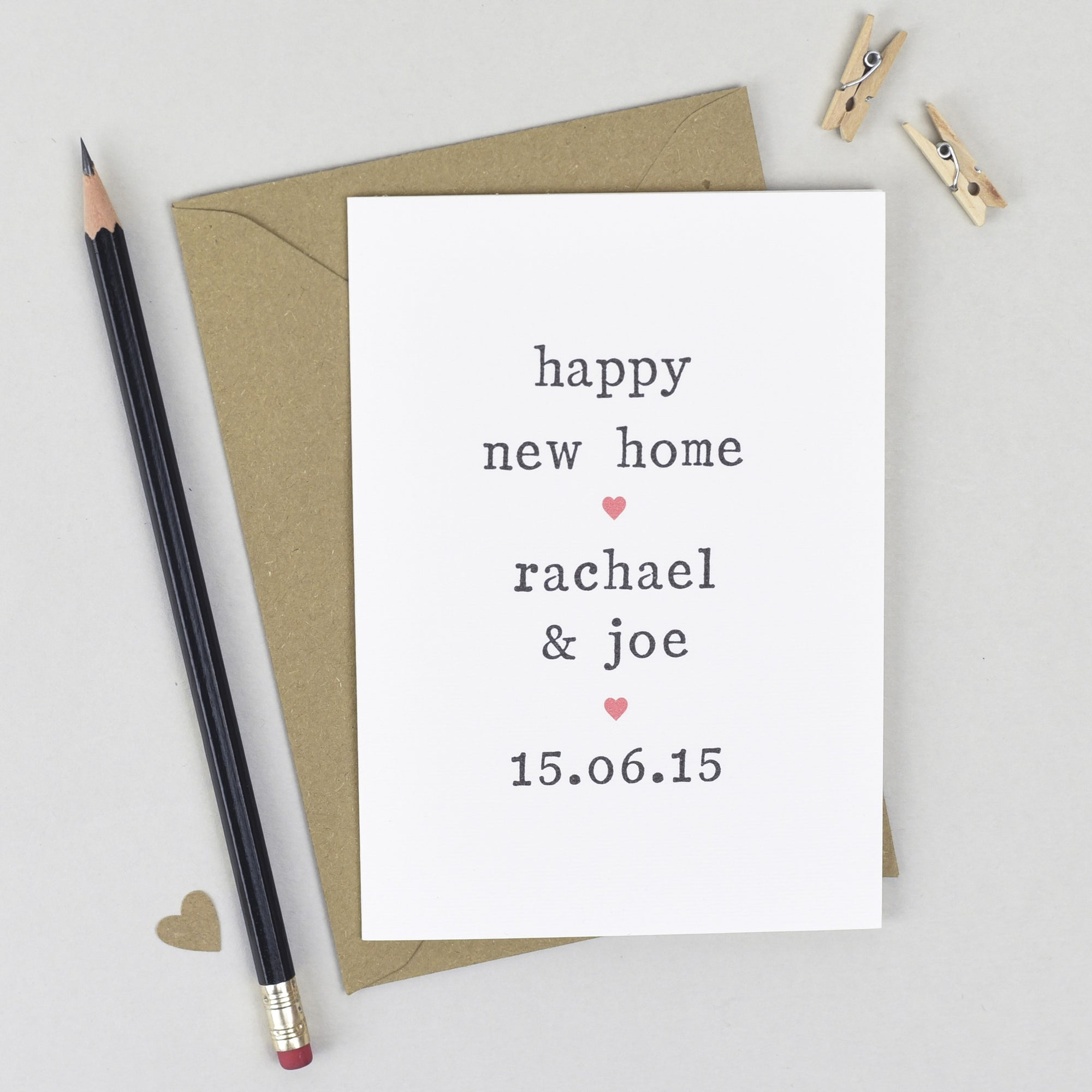 Personalised 'Happy New Home' Card Card - The Two Wagtails