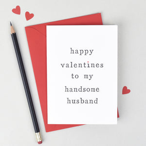 Husband or Wife Valentines Card - The Two Wagtails