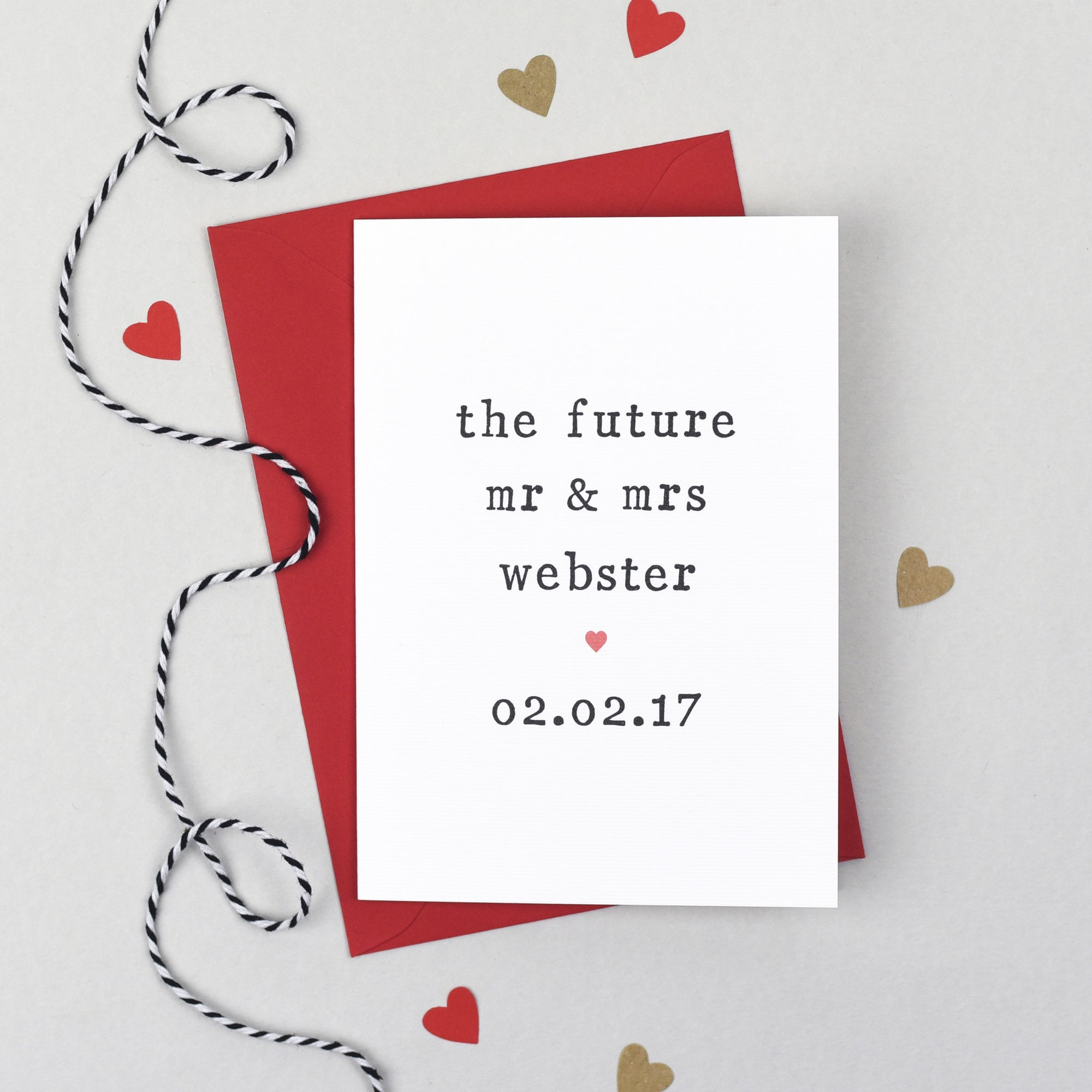 Personalised The Future Engagement Card Card - The Two Wagtails