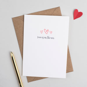 'Love Is In The Air' Anniversary or Valentines Card Card - The Two Wagtails