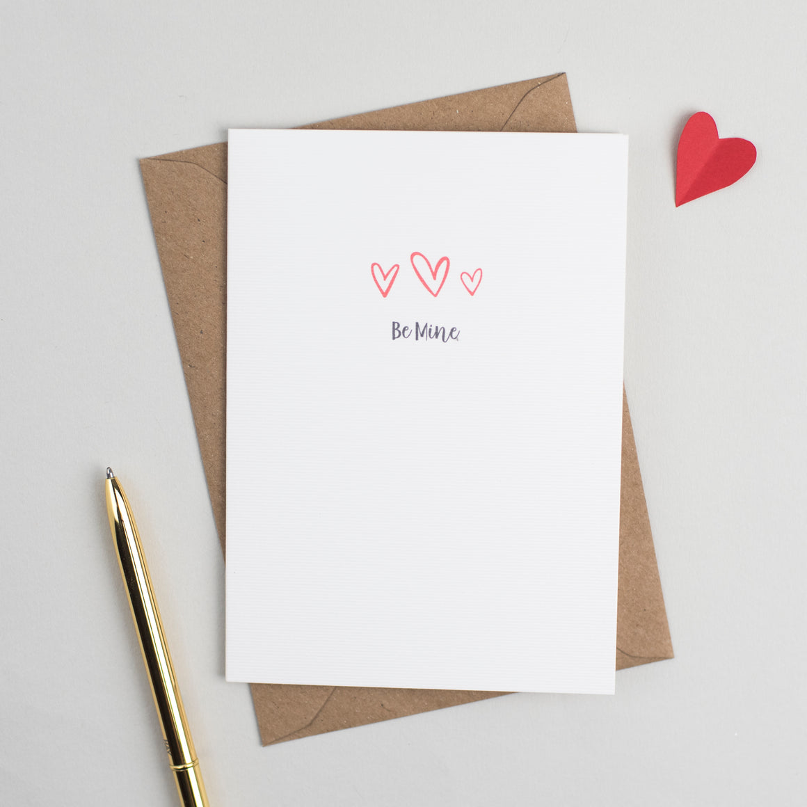 'Be Mine' Anniversary or Valentines Card Card - The Two Wagtails