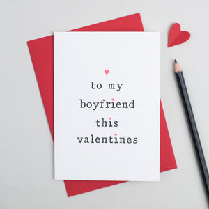 'To My Boyfriend or Girlfriend' Valentine's Day Card Card - The Two Wagtails
