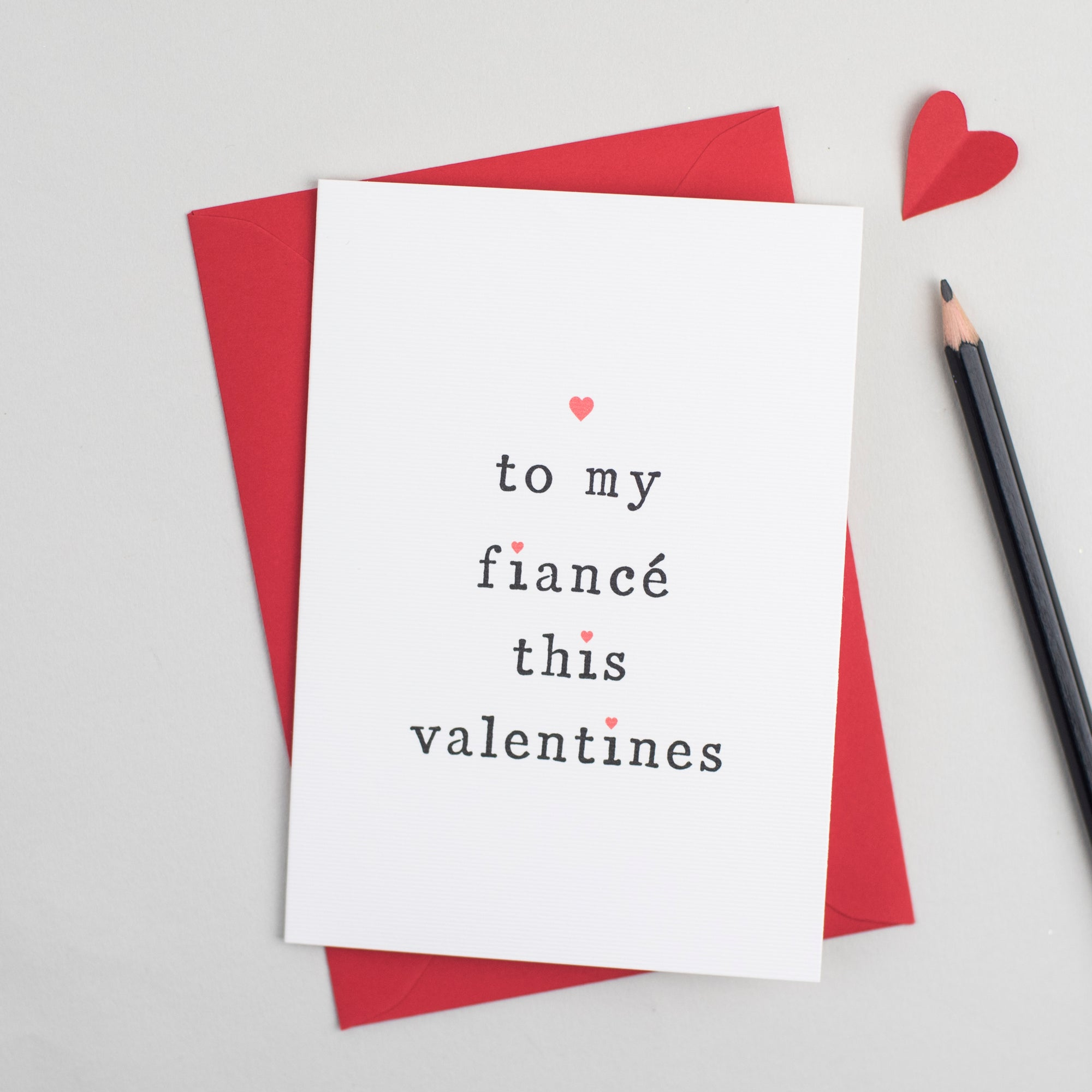 'To My Fiancé or Fiancée' Valentine's Day Card Card - The Two Wagtails