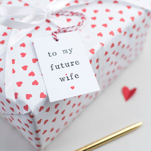'To my future husband or future wife' Gift Tag