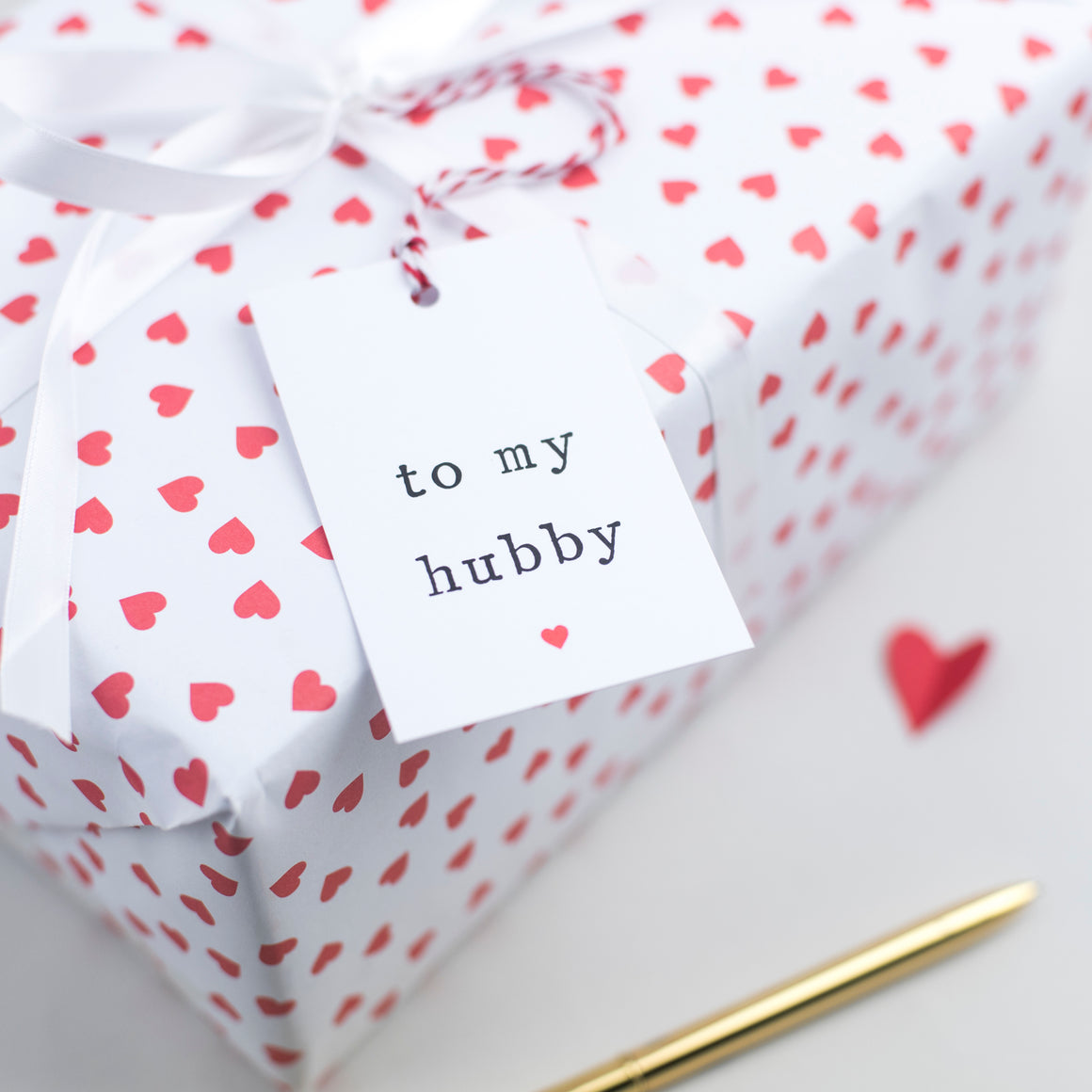 'To my wifey or hubby' Gift Tag