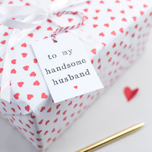 'To my husband or wife' Gift Tag