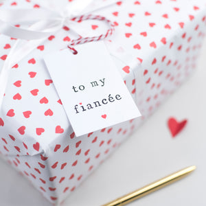 'To my fiancé or fiancee' Gift Tag