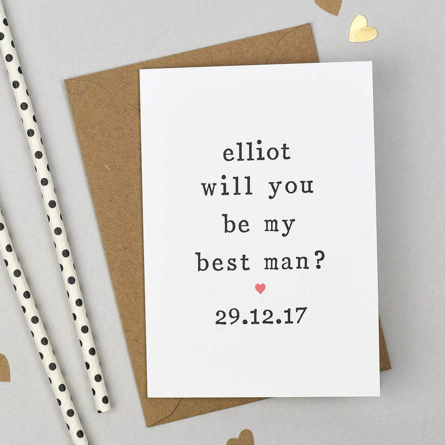 asking best man wedding card