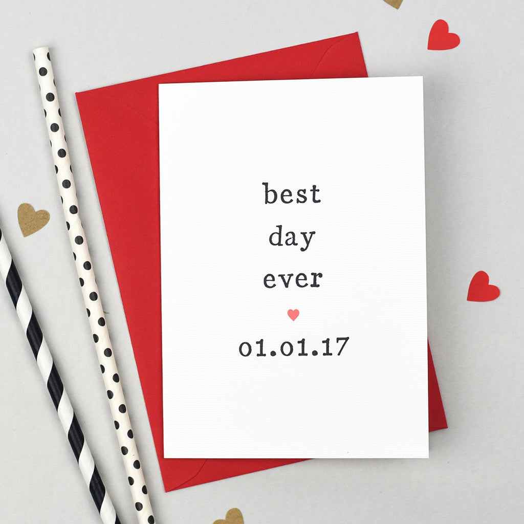 best day ever wedding card