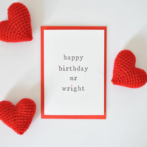 Happy Birthday Mr or Mrs Card Card - The Two Wagtails