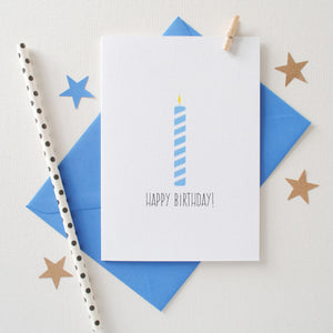Happy Birthday Candle Card Card - The Two Wagtails