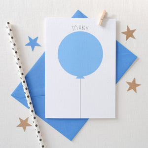 It's A Girl! It's A Boy! New Baby Card Card - The Two Wagtails