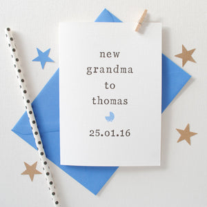 Personalised New Grandparents Card Card - The Two Wagtails