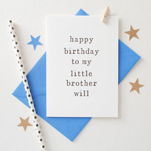 Personalised Happy Birthday Sibling Card Card - The Two Wagtails