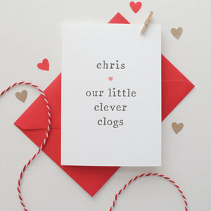 'Clever Clogs' Congratulations Card Card - The Two Wagtails