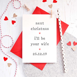 Personalised 'Next Christmas' Fiance or Fiancee Card