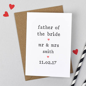 father of the bride wedding card