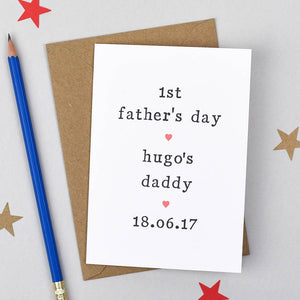 Personalised '1st Father's Day' Card Card - The Two Wagtails