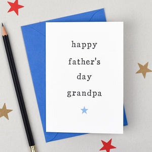 happy fathers day card grandpa