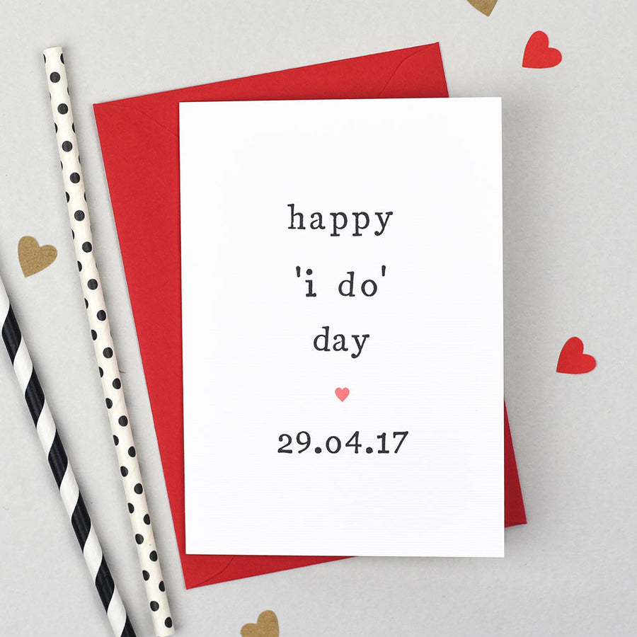 happy i do day wedding card